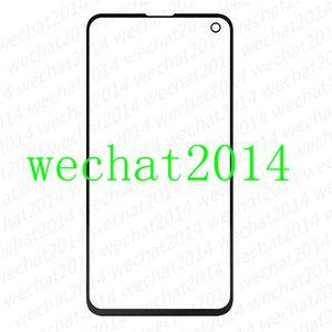 50 ШТ. OEM Передняя Внешний Сенсорный Экран Стеклянный Объектив Замена для Samsung Galaxy S10 Plus G973 G975 S10e G970 бесплатно DHL