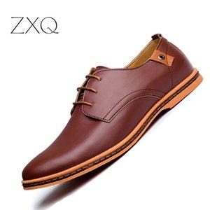 Venta caliente Nueva Oxford Casual Moda Primavera Otoño Flat Charol Hombres Zapatos Wgl-k03-1 MX190729