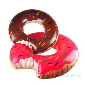 Gros- Piscine Float 90cm 120cm Flotteurs gonflable Donut natation COURONNE été eau Jouet 2506007