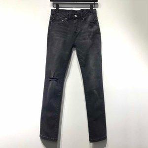 19SS France Vintage Buraco Jean Calças Sweatpants moda de rua Hip Hop Pants Casual Denim Trousers Jeans New Style HFYMKZ150 Jovem