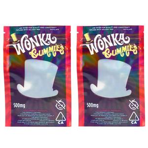 드라이 허브 담배 꽃 다시 봉합을위한 Wonka의 gummies 마일 라 가방 500mg을 먹을 거 천지 지퍼 파우치 Smeproof 저장 소매 가방