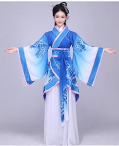 Fleco traje Canción hanfu Moda mujer hanfu Mujer Hada del verano del equipo del traje Modificados trajes étnicos de viento