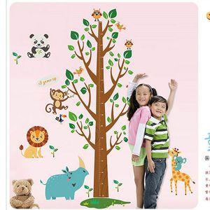 Catroon Mesurer Hauteur Autocollant Sticker Mural Arbre Décor À La Maison Pour Chambres Enfants Hauteur Règle Stadiomètre Chambre Sticker Décoration
