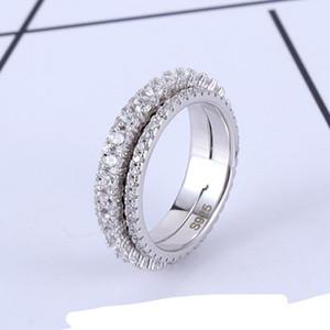 Bijoux Rotation anneaux CZ plein pour les femmes Bague d'éternité pour mariage bande d'engagement Promise CZ Zircon ronde en cristal cercle