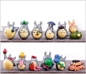 12pcs / lot mi vecino Totoro mini figura bricolaje Moss Micro Paisaje Juguetes Hada del jardín decoración de la resina