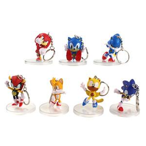 Sonic the Hedgehog Figura Sombra nudillos de las colas de Sonic figura de Sonic Boom 4o Generación Muñecas Juguetes Keychein