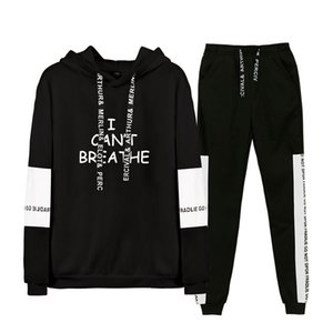 Mens Letters Cant Breathe Casual Tracksuits Designer Sports Joggers Hoodies 2pcs Clothing Set Suits Man Casual Outfits