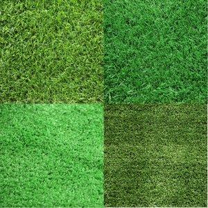 Inicio decoración de la boda del piso 100cm * 100cm Estera verde de hierba verde artificial Céspedes Pequeño alfombras de césped falso césped de jardín de musgo DH0441