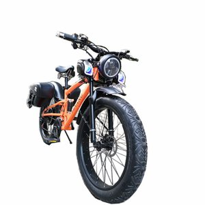 Custom 26inch snow electric mountain bicycle 48V 1000W lithium battery e-motor fat ebike 4.0 tires bike Soft tail