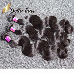Bella Hair? 8A 100% Unprocessed Brazilian Hair Weft 3pcs lot Human Hair Bundles Natural Color Brazilian Body Wave Human Hair Weaves