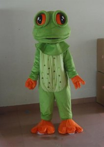 2020 new Big eyes frog Mascot Costumes Animated theme green frog Cospaly Cartoon mascot Character Halloween Carnival party Costume