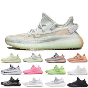Avec boîte Nouveaux garçons Kanye West Clay V2 Static Réfléchissant GID lueur dans l'obscurité Chaussures de course pour homme Hyperspace Femmes Hommes Designer sportif Sneakers