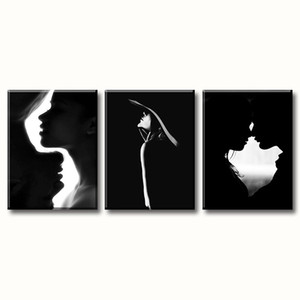 Couple Canvas Wall Art Black and White Modern Decoration Living Room Bedroom Romance Artwork Prints on Canvas Stretched and Framed Ready to