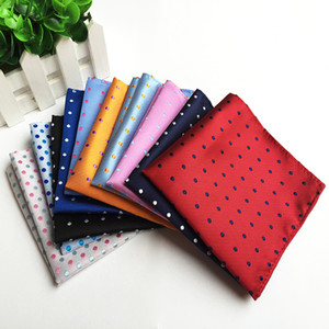 Dot Handkerchief 18 color Pocket square Wave point Hand Towel Gentleman Male Pocket Squares for Christmas gift Free TNT Fedex
