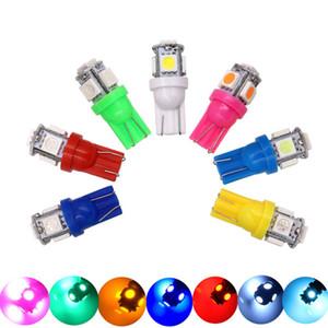 1000 unids Colorido W5W 194 168 T10 5050 5 smd Blanco Car Side Wedge Tail Light Bulb Lámpara para Aparcamiento de coche led Luces de la placa