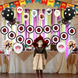 Bruja Globo de Halloween Decoración de la fiesta Arreglo de actividades Globos de aluminio y bandera Tira de espiral Juego feliz Diseño caliente 21 5tyH1