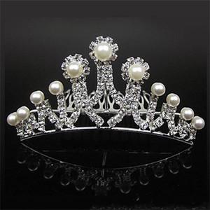 18007-Günstige Kronen Belieben Schöner Haarschmuck Comb Crystals Strass Braut Hochzeit Tiara 4,53 Zoll * 1,97-Zoll-freies Verschiffen