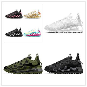 2020 Hococal Reagir Sneakers Triplo Branco Preto Runner-de-rosa sapatos Og MensTrainers Polca-ponto oco superior de borracha Almofada Shoes