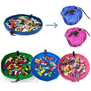 Niños de juguete portátil bolsa de almacenamiento de rosa de la moda y azul bolsa rápido juguetes del juguete del bebé bolsa de almacenamiento al aire libre casero alfombra de juego