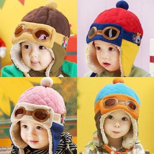 Bebek Çocuk Kış Şapka 19 Renkler Karikatür Peluş Örme Kalınlaştırıcı Çocuk Caps Çocuk Casual Şapka Kız Yenidoğan Bebek Kış Şapka 10-36M 07