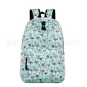 11Style unicornio Flamingo impreso Mochila de escolar del bolso de las mujeres Mochila para niñas adolescentes al aire libre Estudiante de viaje bolsa de almacenamiento FFA2636