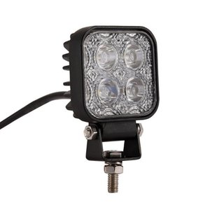 Car led work light 12w square four bead 4led light 3 inch off road car light electric car motorcycle spotlight roof lights