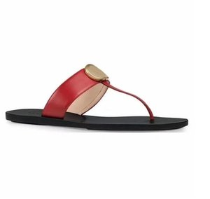 fashion Black soft Leather Francis Thong Sandals mens and womens causal flat beach slip on sandals