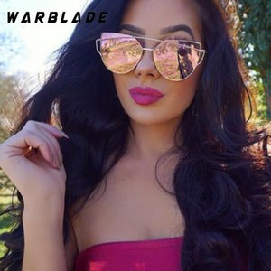 2020 Hot Cat Eye Sunglasses Women Brand Designer Twin-Beams Sun Glasses Mirror Sunglasses Flat Panel Love Punch Clear Drop Ship