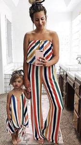 Mère et fille vêtements maman et famille fille mère et fille robes de correspondance de correspondance Robes de plage Robes A3224