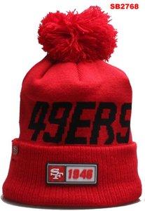 Cappelli a maglia all'ingrosso di sport invernali Cappelli di San Francisco ha cucito SF squadra Logo di marca caldi donne degli uomini di vendita calda Berretti misti economici 00