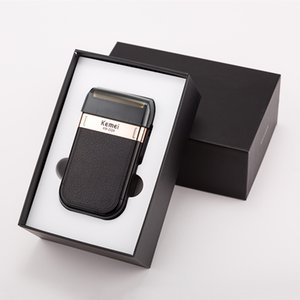Kemei barbeador elétrico recarregável USB maquinillas de afeitar Navalha Cabelo Barba Barbear MachineBarber Trimmer bwkf ZoHbu
