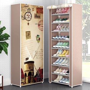 Multi Layers Shoe Rack Nonwoven Fabric Storage Shoes Closet DIY Assembled Stand Holder Space Saver Simple Shoe Cabinet Y200527