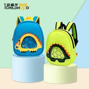 Säuglingskindergartenfrau 1-3 Jahre alte Schultasche der Kinder männliche Schulterdinosaurier-Taschenfabrikgroßverkauf der Karikatur 3d eine Generation