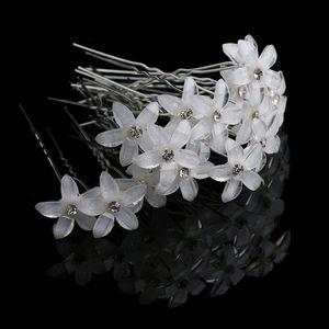 20 Unid / set Crystal Flower HairPins Rhinestone Pinzas Para el Cabello de Las Mujeres de La Boda Nupcial Barrettes Accesorios Niñas joyería de las mujeres