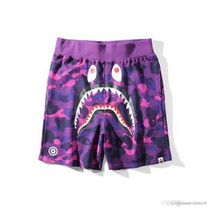Moda Um banho WGM macaco tubarão mens Japão AAPE Camo Praia Shorts designerss Calças queixo com Apes mulheres cabeça homens roupas casa