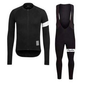 Rapha squadra di ciclismo maniche lunghe in jersey (BIB) pantaloni imposta primavera e l'autunno traspirante Ciclismo Uomo Abbigliamento Ciclismo danboss