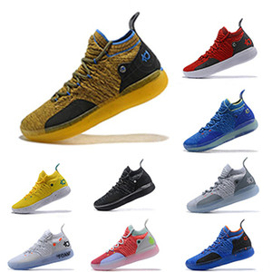 KD 11 EP Elite Basketball Shoes KD 11s Hombres Multicolor Peach Jam Hombre Entrenadores Kevin Durant 10 EYBL Baloncesto Hombres Zapatos Size40-46