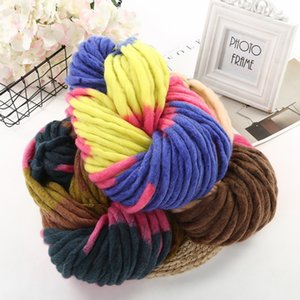 DIY pure hand-knitted soft skin-friendly wool yarn woolen system spinning color color dyeing coarse Ultrafine fabric bag hat scarf line