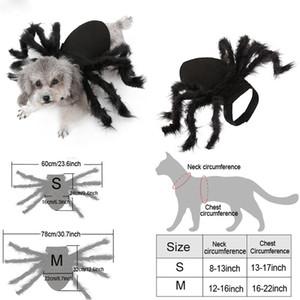 الكلاب زي العنكبوت الأسود الملابس هالوين الحيوانات الأليفة تأثيري العنكبوت الملابس الحيوانات الأليفة بات لعب دور خلع الملابس لطيف الملابس الحيوانات الأليفة الكلاب BH2339 TQQ
