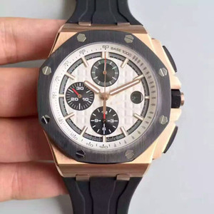 Top Quality JF Version Mens Designer Relojes offshore 26401ro 26470 26400 15400 Cal.3120 Movement Chronograph Woking Woking Luxury Watsproof Watch