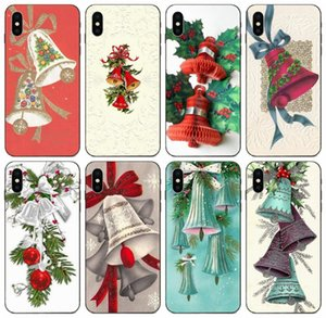 [TongTrade] Vintage Christmas Bell Case For iPhone 8 7 6s 5s Plus X XS 11 Pro Max Galaxy Core 8262 Huawei P9 Lite Sony Xperia Z1 Custom Case