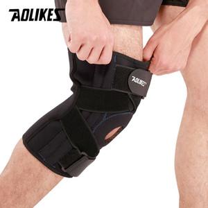 AOLIKES 1PCS professionnel coussin pour les genoux Ménisque blessures Protetor de Joelho Soutien Sport Sécurité genouillères RODILLERAS tactique Brace T191230
