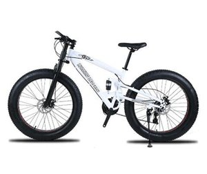 High quality Mountain bike 26 Fatbike 7 21 24 Speed shock absorber bicycles Snowmobile Dual disc brakes of the bike Free Shippin
