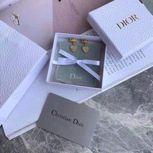 ventas calientes al por mayor de estadounidenses y de corazón de cristal de lujo a medida vástago de bronce S925 simple aguja espárrago