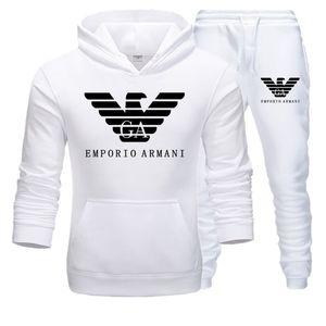 G2Survêtement Armani Mens Fashion Designer Hoodies + pantalon 2 jeux Piece couleur unie Marque Outfit Costumes 2019 de haute qualité pour moi Survêtements