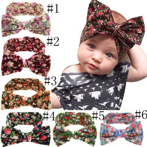Lovely Bowknot Elastic Head Bands For kids Girls Headband For Children Tuban Baby Baby Accessories Floral Hair Haarband EEA716-2
