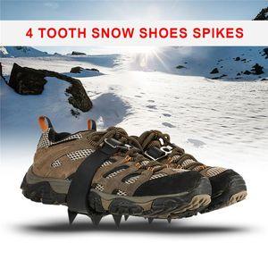 암벽 등반 낚시 등산 (14 개) 치아 스포츠 미끄럼 방지 얼음과 눈 클립 미끄럼 방지 신발 부츠 클립 스테이플 체인 손톱 눈의 1 쌍