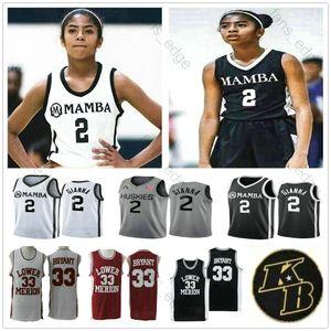 NCAA جيانا ماريا Onore 2 جيجي GiannaBryant أوكن] أقوياء البنية كلية ميريون السفلى مامبا XX 33 مدرسة ثانوية التذكارية متقاعد كرة السلة الفانيلة