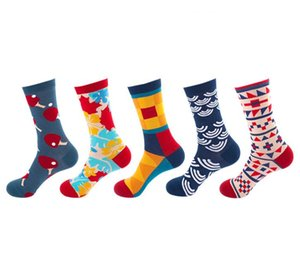 Für Männer Frauen Designer Socken Hart treffen Herbst neue Süßigkeit Farbe Brief Haufen Haufen weibliche Socken Art und Weise Mehrfarben wilde Baumwolle