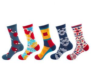 Mens women designer socks socking autumn new candy color letter pile heap female socks fashion multicolor wild cotton